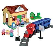 Stavebnice BIG-Bloxx ako lego - Stavebnica Peppa Pig na železničnej stanici PlayBIG Bloxx BIG so 4 figúrkami 95 dielov od 1,5-5 rokov_4