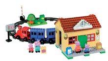 Stavebnice BIG-Bloxx ako lego - Stavebnica Peppa Pig na železničnej stanici PlayBIG Bloxx BIG so 4 figúrkami 95 dielov od 1,5-5 rokov_5