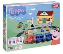 Stavebnice BIG-Bloxx ako lego - Stavebnica Peppa Pig na železničnej stanici PlayBIG Bloxx BIG so 4 figúrkami 95 dielov od 1,5-5 rokov_10