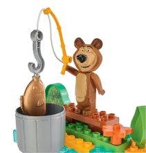 Stavebnice BIG-Bloxx ako lego - Stavebnica Máša a medveď idú na rybačku PlayBIG Bloxx BIG s 2 figúrkami 30 dielov od 1,5-5 rokov_0