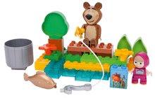 Stavebnice BIG-Bloxx ako lego - Stavebnica Máša a medveď idú na rybačku PlayBIG Bloxx BIG s 2 figúrkami 30 dielov od 1,5-5 rokov_1