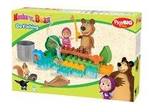 Stavebnice BIG-Bloxx ako lego - Stavebnica Máša a medveď idú na rybačku PlayBIG Bloxx BIG s 2 figúrkami 30 dielov od 1,5-5 rokov_2