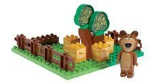 Stavebnice BIG-Bloxx ako lego - Stavebnica Máša a medveď v záhradke PlayBIG Bloxx BIG s 1 figúrkou 21 dielov od 1,5-5 rokov_0