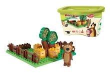 Stavebnice BIG-Bloxx ako lego - Stavebnica Máša a medveď v záhradke PlayBIG Bloxx BIG s 1 figúrkou 21 dielov od 1,5-5 rokov_2