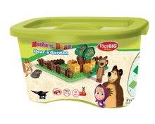 Stavebnice BIG-Bloxx ako lego - Stavebnica Máša a medveď v záhradke PlayBIG Bloxx BIG s 1 figúrkou 21 dielov od 1,5-5 rokov_1