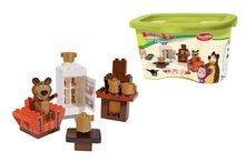 Stavebnice BIG-Bloxx ako lego - Stavebnica Máša a medveď v izbe PlayBIG Bloxx BIG s 1 figúrkou 35 dielov od 1,5-5 rokov_3