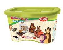 Stavebnice BIG-Bloxx ako lego - Stavebnica Máša a medveď v izbe PlayBIG Bloxx BIG s 1 figúrkou 35 dielov od 1,5-5 rokov_2