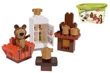 Stavebnice BIG-Bloxx ako lego - Stavebnica Máša a medveď v izbe PlayBIG Bloxx BIG s 1 figúrkou 35 dielov od 1,5-5 rokov_1