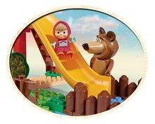 Stavebnice BIG-Bloxx ako lego - Stavebnica Máša a medveď na šmykľavke PlayBIG Bloxx BIG s 2 figúrkami 29 dielov od 1,5-5 rokov_3