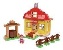 Stavebnice Máša a medvěd v domku PlayBIG Bloxx BIG s 1 figurkou 95 dílů od 1,5-5 let