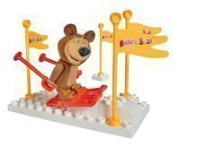 Stavebnica PlayBIG BLOXX Masha a medveď set: Na lyžiach 9-14 kusov 19*10*19 cm B57097-C