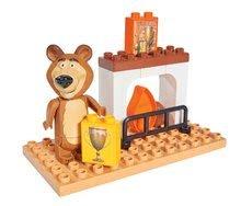 Stavebnica PlayBIG BLOXX Masha a medveď set: Pri krbe 9-14 kusov 19*10*19 cm B57097-D