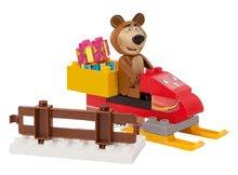 Stavebnice BIG-Bloxx ako lego - Stavebnica Máša a medveď na snežnom skútri PlayBIG Bloxx BIG s 1 figúrkou 15 dielov od 1,5-5 rokov_0