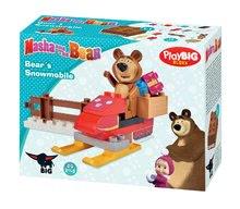 Stavebnice BIG-Bloxx ako lego - Stavebnica Máša a medveď na snežnom skútri PlayBIG Bloxx BIG s 1 figúrkou 15 dielov od 1,5-5 rokov_1
