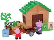 Joc de construit Peppa Pig în grădină PlayBIG Bloxx 41 de piese și 2 figurine