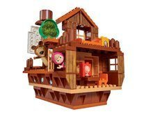 Stavebnice Máša a medvěd Medvědí loď PlayBIG Bloxx BIG s 2 figurkami a 159 dílů