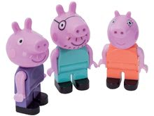 Otroške kocke Peppa Pig PlayBIG BLOXX odrasli 3 figurice od 18 mes