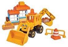 Stavebnice Bořek Stavitel PlayBIG Bloxx stavební stroj s nakladačem a bagrem BIG 40 dílů od 24 měsíců