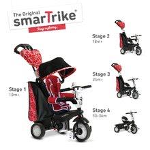 Tricikel Chic Touch Steering 4v1 smarTrike rdeče-črn od 10 mes