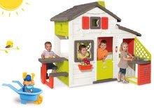 Set dětský domeček Přátel Smoby s kuchyňkou a zvonkem a kolečko s kbelík setem Hledá se Dory