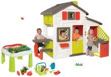 Domčeky s pieskoviskom - Set domček Priateľov Smoby s kuchynkou a zvončekom a stôl Záhradník De Jardinage 2v1_24