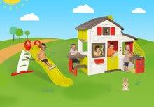 Domčeky so šmykľavkou - Set domček Priateľov Smoby s kuchynkou a zvončekom a šmykľavka Toboggan Funny 2 metrová_25
