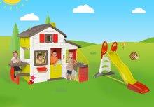Domčeky so šmykľavkou - Set domček Priateľov Smoby s kuchynkou a zvončekom a šmykľavka Toboggan XL s dĺžkou 2,3 m_24