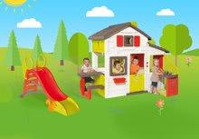 Domčeky so šmykľavkou - Set domček Priateľov Smoby s kuchynkou a zvončekom a šmykľavka Toboggan KS s dĺžkou 150 cm_21