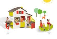 Domčeky s hojdačkou - Set domček Priateľov Smoby s kuchynkou a zvončekom a obojstranná hojdačka Pes_22