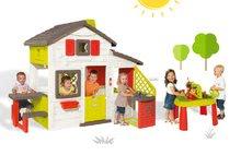 Domčeky s pieskoviskom - Set domček Priateľov Smoby s kuchynkou a zvončekom a stôl Záhradník De Jardinage 2v1_29