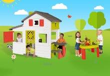 Domčeky s pieskoviskom - Set domček Priateľov Smoby s kuchynkou a zvončekom a stôl Záhradník De Jardinage 2v1_27