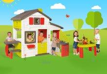 Domčeky s pieskoviskom - Set domček Priateľov Smoby s kuchynkou a zvončekom a stôl Záhradník De Jardinage 2v1_28