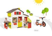 Domčeky sety - Set domček Priateľov Smoby s kuchynkou a zvončekom a balančné odrážadlo Learning Bike_25
