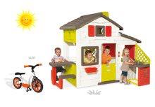 Domčeky sety - Set domček Priateľov Smoby s kuchynkou a zvončekom a balančné odrážadlo Learning Bike_24