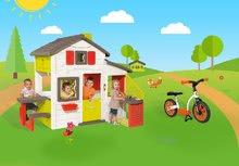 Domčeky sety - Set domček Priateľov Smoby s kuchynkou a zvončekom a balančné odrážadlo Learning Bike_23
