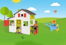 Domčeky s náradím - Set domček Priateľov Smoby s kuchynkou a zvončekom a fúrik so záhradným náradím a kosačkou_20