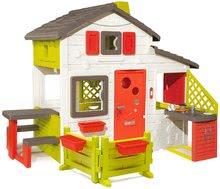 Domček Friends House Smoby s kuchynkou, záhradkou a plnými dverami 810211-B