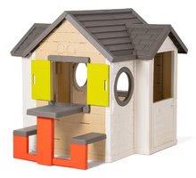 Domčeky s náradím - Set domček My Neo House DeLuxe Smoby so zvončekom a zadným vchodom, fúrik s vedierkom_1