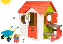 Domčeky s náradím - Set domček My Neo House DeLuxe Smoby so zvončekom a zadným vchodom, fúrik s vedierkom_26