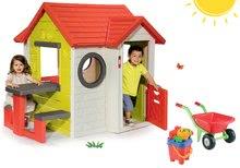 SMOBY 310228-1 set domček My House 2x dvere, s fúrikom a vedro setom Hrad UV filter od 3 rokov