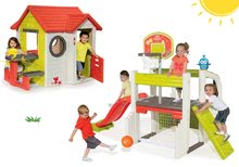 Szett házikó My House Smoby csengővel és 2 ajtóval és játszóközpont Fun Center csúszdával 24 hó-tól