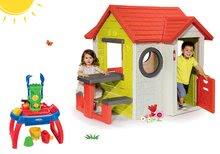 Set căsuţă My House Smoby cu sonerie și măsuță nisipar de joacă apă∋sip cu 10 accesorii de la 24 luni