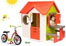 Domčeky sety - Set domček My Neo House DeLuxe Smoby so zvončekom a zadným vchodom a balančné odrážadlo od 24 mes_27
