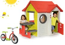 Domčeky sety - Set domček My Neo House DeLuxe Smoby so zvončekom a zadným vchodom a balančné odrážadlo od 24 mes_29