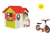 Set domeček My House s elektronickým zvonkem Smoby a balanční odrážedlo Learning Bike od 24 měsíců