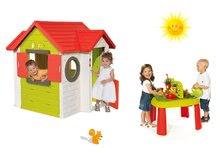 Set domeček My House s elektronickým zvonkem Smoby a stůl Zahradník De Jardinage od 24 měsíců