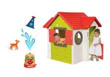 Set domeček My House s elektronickým zvonkem Smoby a stříkací vodní klaun od 24 měsíců