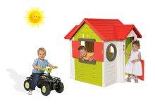 Set domeček My House s elektronickým zvonkem Smoby a odrážedlo čtyřkolka Quad od 24 měsíců