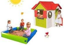 Set detský domček My House Smoby so zvončekom a pieskovisko BIG s krycou plachtou od 2 rokov