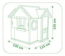Šmykľavky s domčekom - Set šmykľavka Toboggan XL Smoby s vodou dĺžka 230 cm a domček My House s 2 dvierkami_27